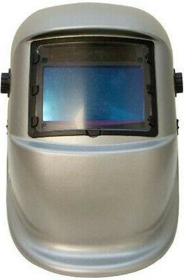 sliver welding helmet welder large view head
