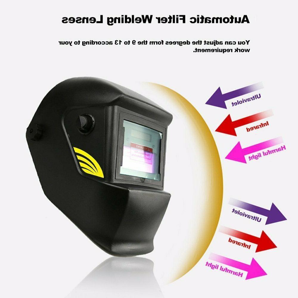 Solar Welding Helmet Arc Welder Mask Black