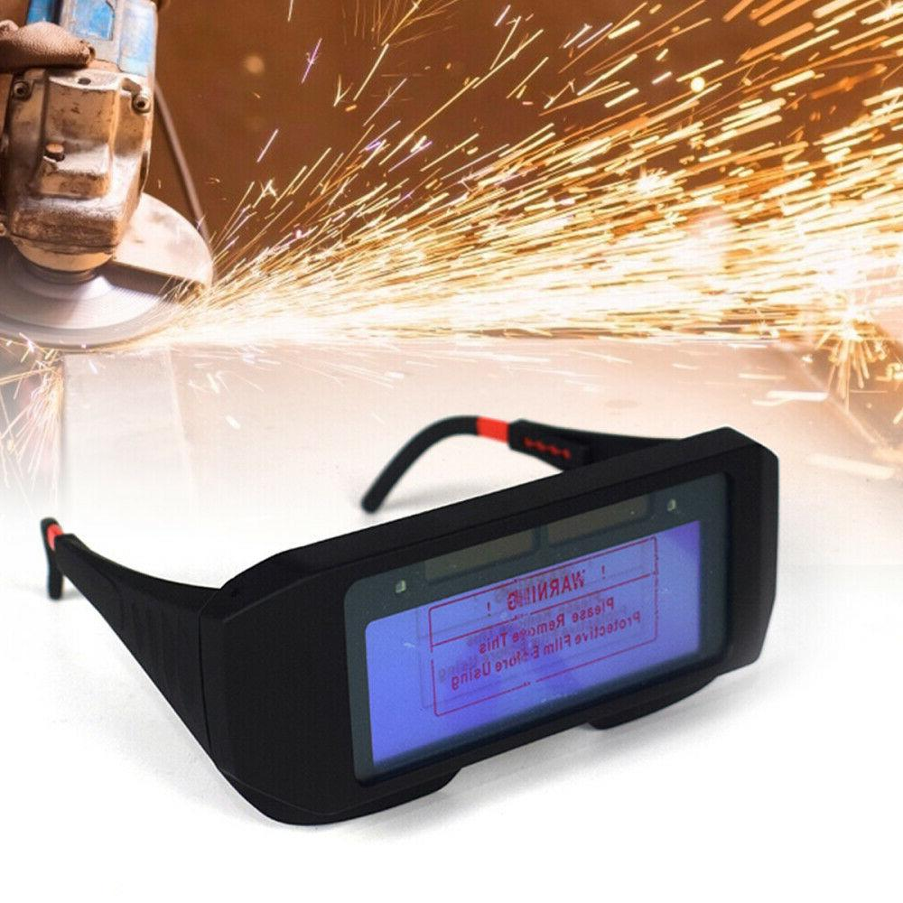 Pro Solar Powered Auto Darkening Welding Eyes Goggle