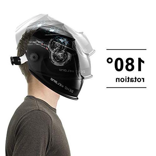DEKOPRO Helmet with Adjustable Wide Range 4/9-13 Tig Arc