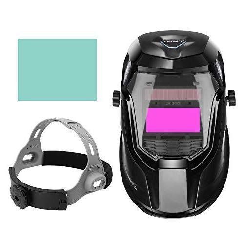 DEKOPRO Solar Welding Helmet Auto with Wide Range Tig