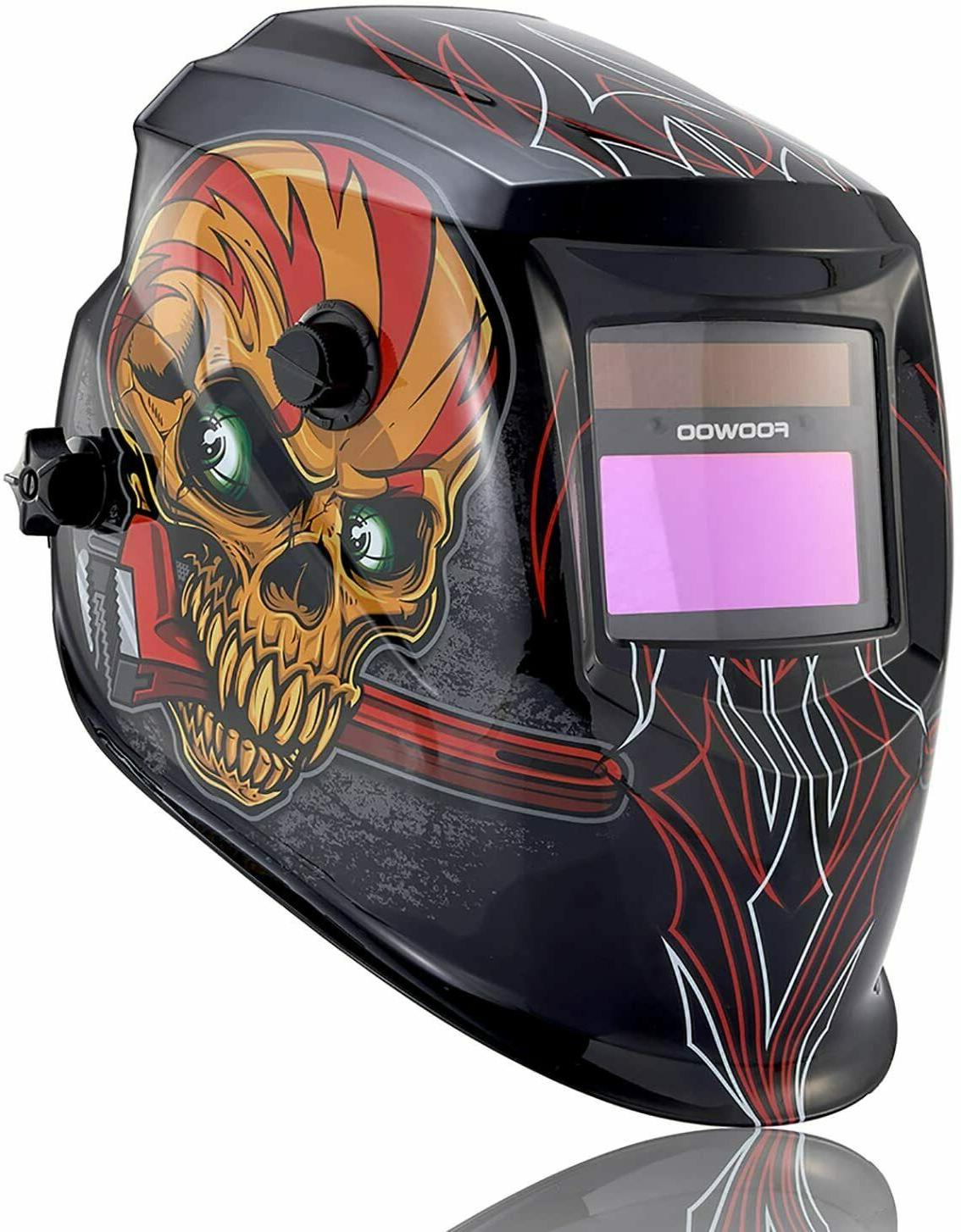solar powered welding helmet auto darkening hood