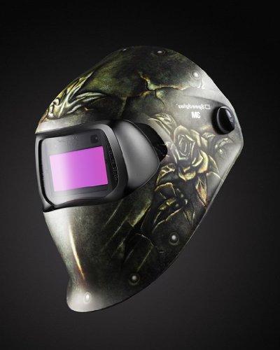3M Steel Rose Welding Helmet 100 with Auto-Darkening 100V 8-12, 07-0012-31SR