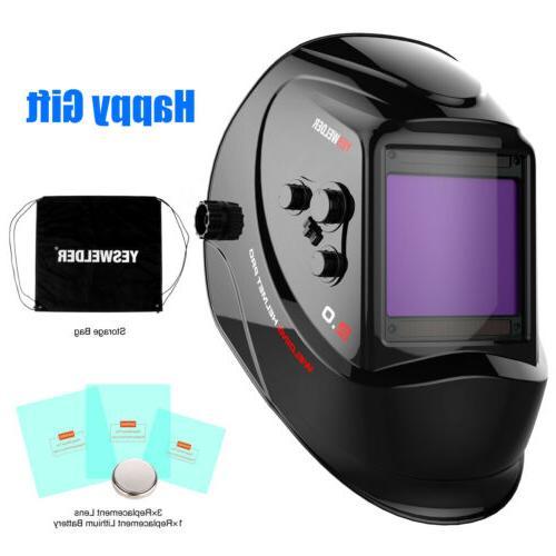 Large View Screen Welding Helmet Pro Solar Auto Darkening We