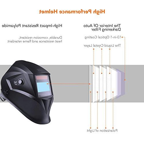 Welding Optical Class Shade Protection DIN 16, Replacement Protecting Bag, Grinding Feature for MIG Plasma - PAH04D