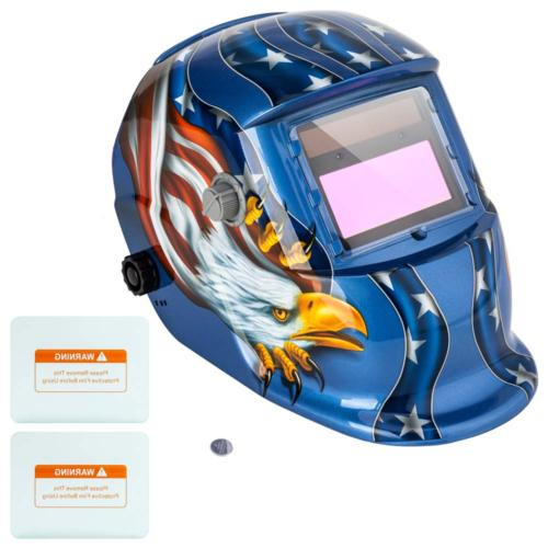 welding helmet auto darkening pro solar powered
