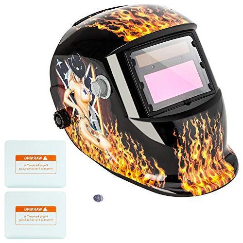 welding helmet hood solar auto