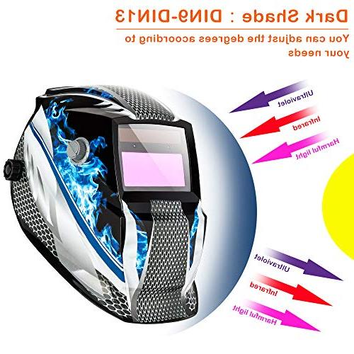 Z ZTDM Mask Auto Shade Range DIN ARC MIG Lens+CR2032 Battery,CE EN379 Z87.1