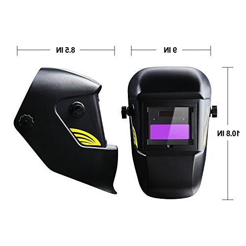 DEKOPRO Welding Helmet Solar Powered Auto with Adjustable Range 4/9-13 Arc