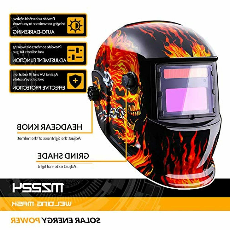 Welding Helmet Solar Auto Darkening with Shade