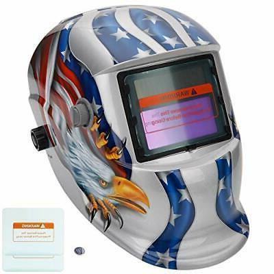 welding helmet welder mask solar powered auto