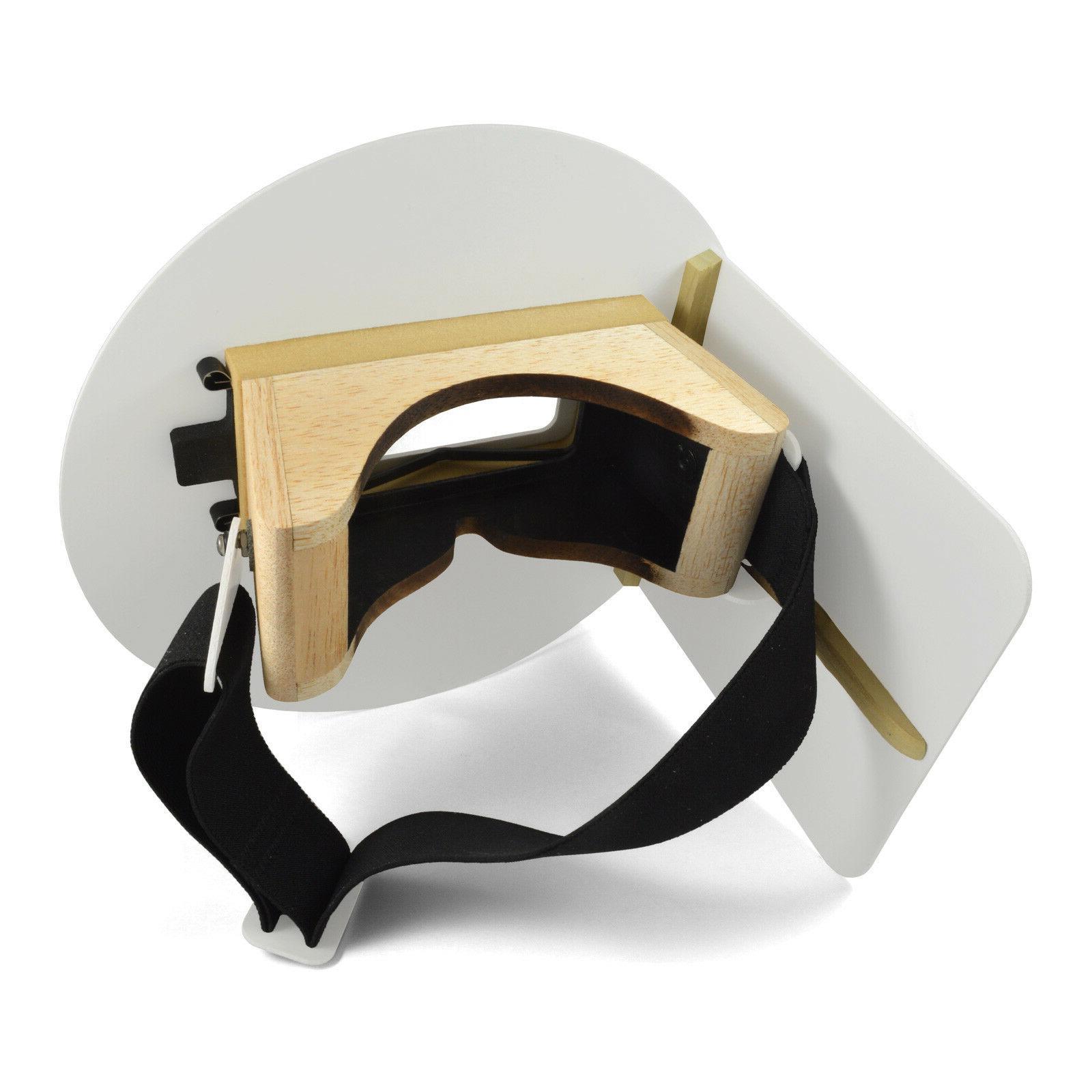 Wendy/'s Pancake Welding Hood Helmet w//strap Right Handed White w//Flip Up Lens
