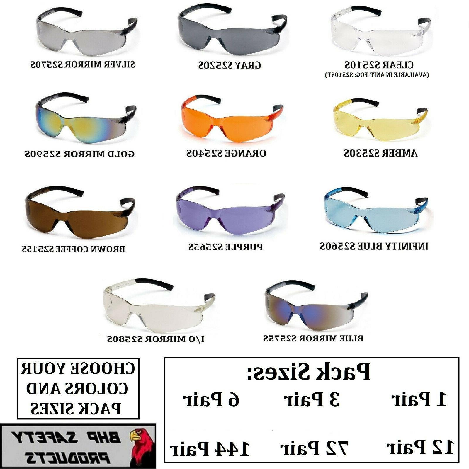 ztek safety glasses ansi z87 compliant variety