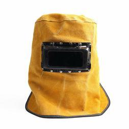 Leather Solar Auto Darkening Filter Lens Welder Welding Hood