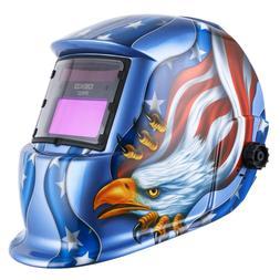 Lightweight Helmet Auto Darkening Solar Sensors Miller Mask