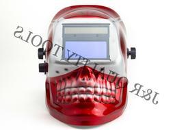 MIG/TIG Auto Darkening Welding Helmet -Red Skull Shape Desig