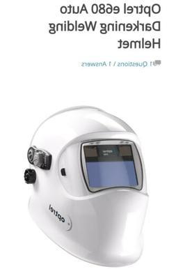 new auto darkening welding helmet white hood