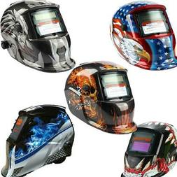 New Pro Solar Welding Helmet Auto Darkening Arc Tig Mig Grin