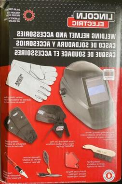NEW LINCOLN ELECTRIC SOLAR POWERED WELDING HELMET & ACCESSOR