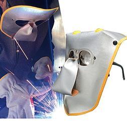 OKIl Adjustable Cowhide Welding Helmet ARC TIG MIG Welding L