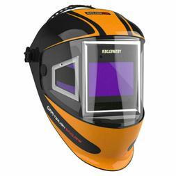 Panoramic 180 View Auto Darkening Welding Helmet True Color