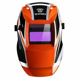 DEKOPro Solar Auto Darkening Welding Helmet Arc Tig Mig Mask