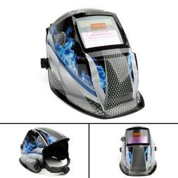Pro Solar Auto Darkening Welding Helmet Big View Area 4 Sens