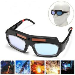 Solar Powered Auto Darkening Welding Mask Helmet Eyes Goggle