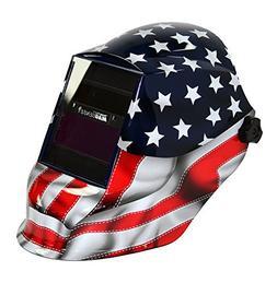 Red/White/Blue Auto Darkening Welding Helmet, 41200GL-611, S