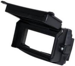 "Sellstrom S27300 2"" x 4 1/4"" Lift Front Retainer, Black"
