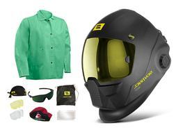 ESAB Sentinel A50 Welding Helmet & Lg Steiner Welding Jacket