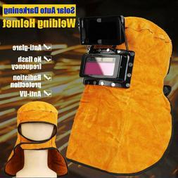 Solar Auto Darkening Filter Lens Welder Leather Hood Welding