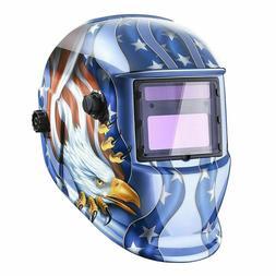DEKO Solar Auto Darkening Welding Helmet Arc Tig Mig Grindin