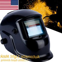 Solar Auto Darkening Welding Helmet Large View Area Arc Tig