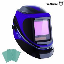 DEKO Solar Darkening Welding Helmet Arc Mig Safety Protectiv
