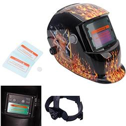 OxiQmart Pro Solar Power Auto Darkening Welding Helmet with
