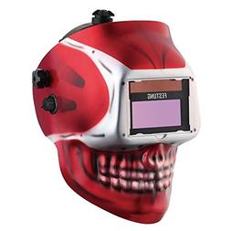 KOOLWOOM Solar Power Auto Darkening Welding Helmet SKULL des