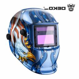 Solar Powered Auto Darkening Welding Helmet with Adjustable