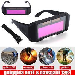 Solar Powered Auto Darkening Welding Helmet Eyes Welder Glas