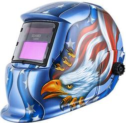 Solar Powered Welding Helmet Auto Darkening Hood With Adjust