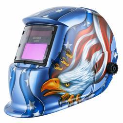 DEKOPRO Solar Powered Welding Helmet Auto Darkening Hood Adj