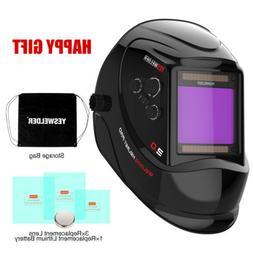 YESWELDER True Color Auto Darken Welding Helmet Large Viewin