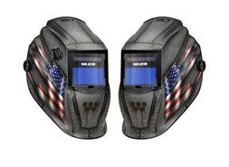 US FLAG METAL MAN Welding Helmet USA Solar Powered Auto Dark