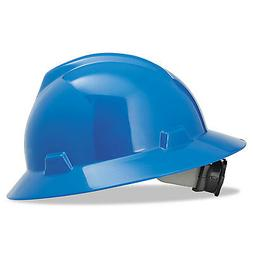 MSA V-Gard Hard Hats, Fas-Trac Ratchet Suspension, Size 6 1/