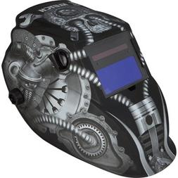 Klutch Variable-Shade Auto-Darkening Welding Helmet with Gri