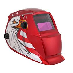 Welder Helmet,Solar Powered w/Auto Darkening Hood and Adjust