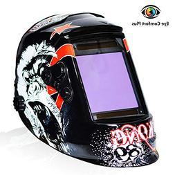 Tekware Welding Helmet 4C Lens Technology Solar Power Auto D
