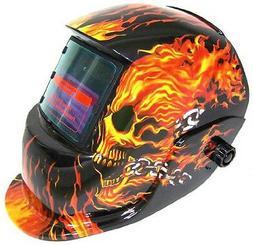 Welding Helmet - Flames  Skull - Auto-Darkening - SolarC.P.S
