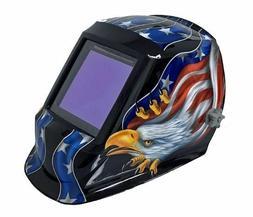 Welding Helmet Hood Mask Solar Powered Auto Darkening With 4