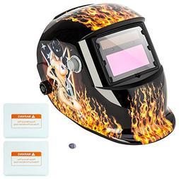 Z ZTDM Welding Helmet Hood Pro Solar Auto Darkening Tooth Ma